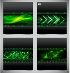 Smooth colorful abstract techno backgrounds vector image