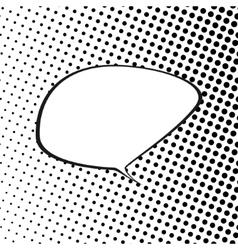 Speech Bubble on Pop Art Background vector image vector image