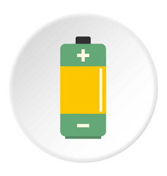 aa alkaline battery icon circle vector image