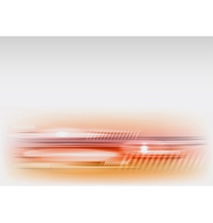 abstract shape red vector image