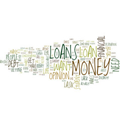 are loans right for you text background word vector image