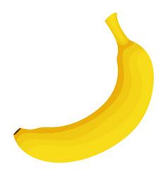 banana icon cartoon style vector image