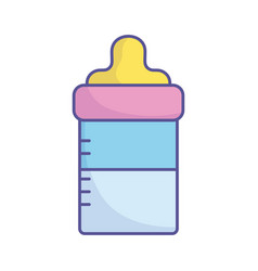 bashower feeding bottle milk icon vector image