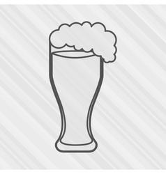 beach cocktail design vector image