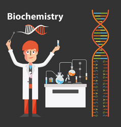 Biochemistry scientist genetic vector