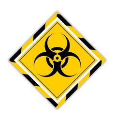 Biohazard or biological hazard warning sign vector