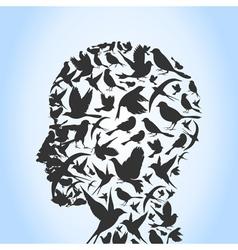 Bird a head vector image
