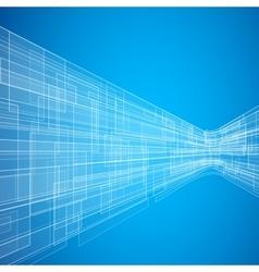 Blue Futuristic Background vector image
