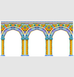 Bright arch of oriental palace vector