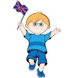 British boy vector