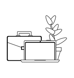 business and office elements black and white vector image