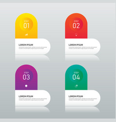 business infographic design element template with vector image