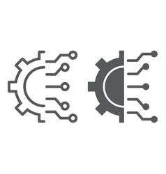 Business intelligence line and glyph icon vector
