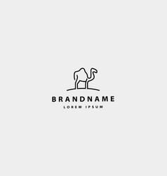 Camel simple logo icon design vector