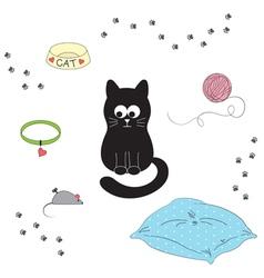 Cats accessories vector