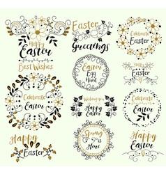 Celebrate EasterHappy GreetingsSpring Is Here Egg vector