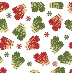 Christmas and New Year seamless pattern of winter vector image