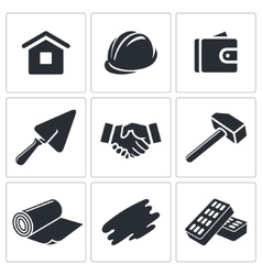 Construction and home repair icon collection vector