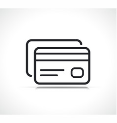 credit card payment line icon vector image