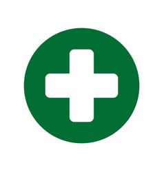 cross medical symbol vector image