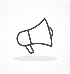 cute megaphone icon on white background eps10 vector image