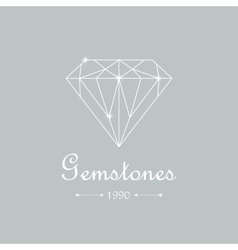 diamond isolated on white vector image
