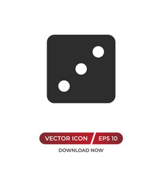 Dice number three icon vector