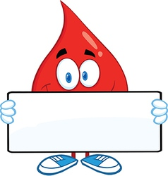 Drop of blood cartoon character vector