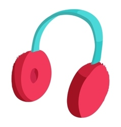 Earmuffs icon cartoon style vector image
