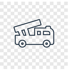 fire truck toy concept linear icon isolated on vector image