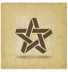 five-pointed star symbol on vintage background vector image
