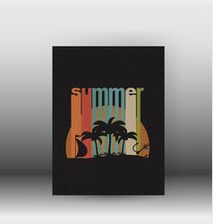 flyer or cover design - summer vector image