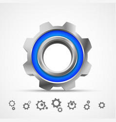Gear icon 3d vector