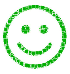 Glad smiley composition of squares and circles vector
