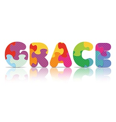 GRACE written with alphabet puzzle vector