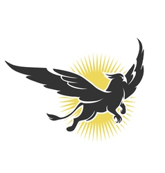 griffin on a background sun vector image