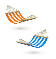hammock template camping or picnic relaxation vector image