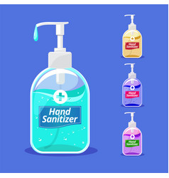 hand sanitizer flat with pump bottle vector image