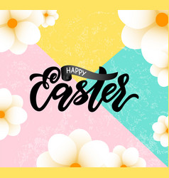 happy easter sale banner template with beautiful vector image