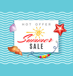 hot offer summer sale vector image