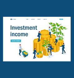 isometric businessmen insure money vector image