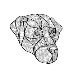 Labrador retriever mandala vector