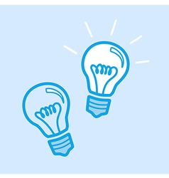Lamp Bulb Idea Icon Simple Blue vector image