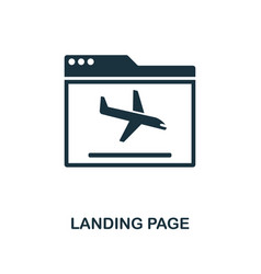 landing page icon monochrome style design from vector image