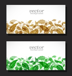 Leaves Card vector image