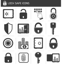 Lock Safe Icon Set vector image