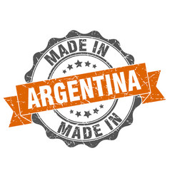 made in argentina round seal vector image vector image