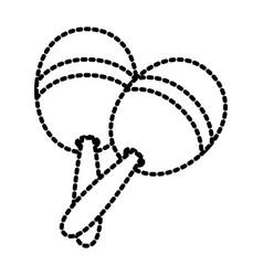 maracas musical instrument vector image