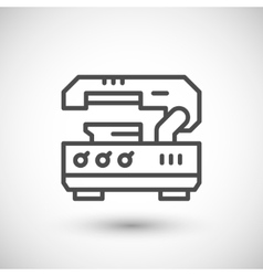 Metal cutting machine line icon vector