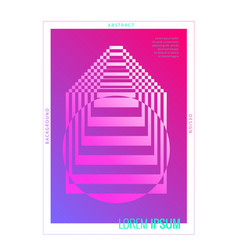 minimal cover design abstract geometric poster vector image